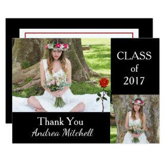 Cartões de agradecimentos da graduação da foto convite 12.7 x 17.78cm