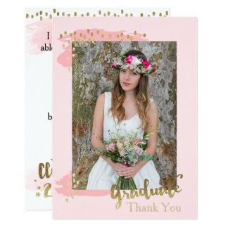 Cartões de agradecimentos da graduação da foto do convite 12.7 x 17.78cm