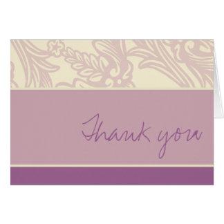 Cartões de agradecimentos da lavanda do Flourish