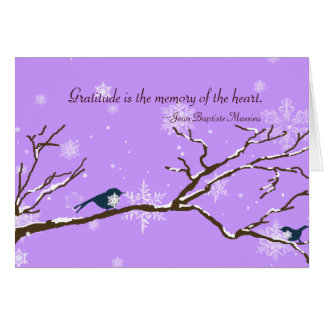 Cartões de agradecimentos da lavanda dos Snowbirds