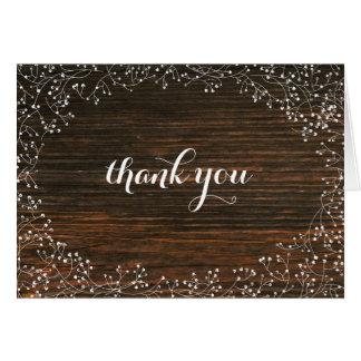 Cartões de agradecimentos da madeira do celeiro da