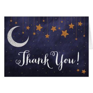 Cartões de agradecimentos da noite estrelado