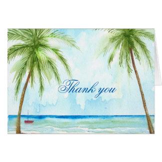 Cartões de agradecimentos da palmeira