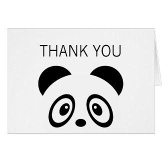 Cartões de agradecimentos da panda