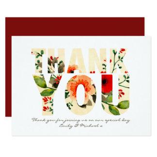 Cartões de agradecimentos da papoila da aguarela