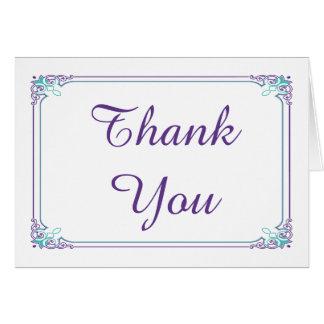Cartões de agradecimentos da pena do pavão