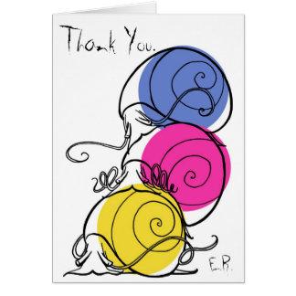 Cartões de agradecimentos da pilha do caracol