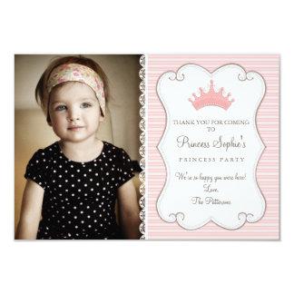 Cartões de agradecimentos da princesa Aniversário Convite 8.89 X 12.7cm