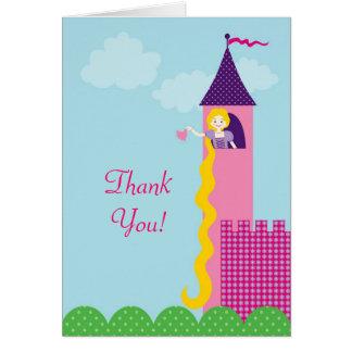 Cartões de agradecimentos da princesa Rapunzel