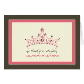 Cartões de agradecimentos da princesa Tiara