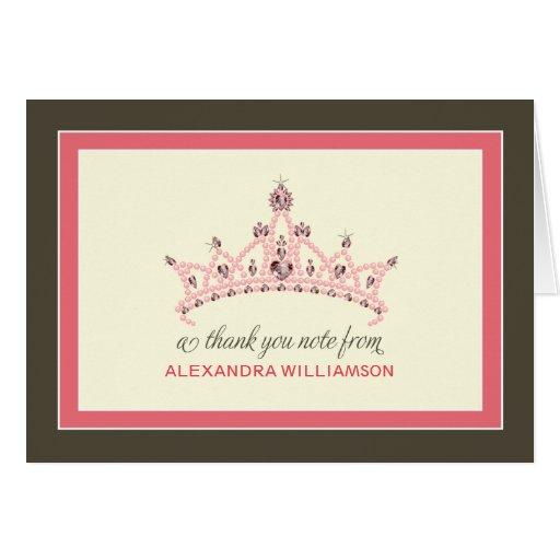 Cartões de agradecimentos da princesa Tiara (aumen