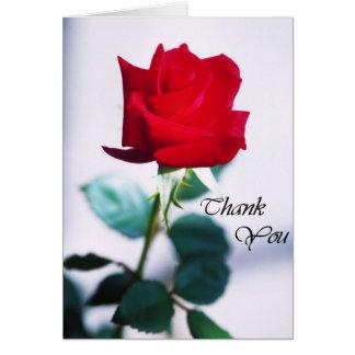 Cartões de agradecimentos da rosa vermelha