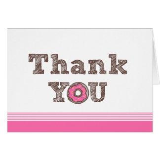 Cartões de agradecimentos da rosquinha