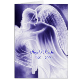 Cartões de agradecimentos da simpatia do anjo azul