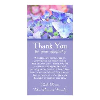 Cartões de agradecimentos da simpatia do cartão com foto