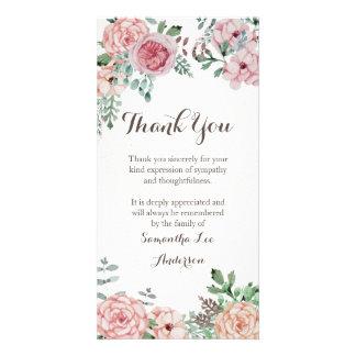 Cartões de agradecimentos da simpatia, memorial cartão com foto