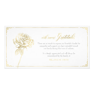 Cartões de agradecimentos da simpatia, memorial, cartão com foto