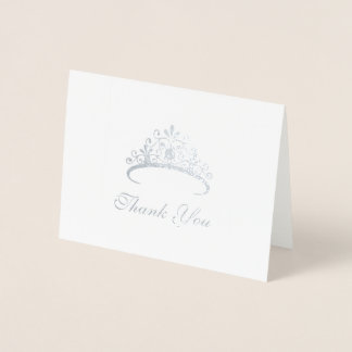 Cartões de agradecimentos da tiara da