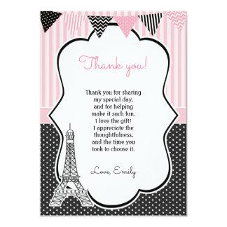 Cartões de agradecimentos da torre Eiffel de Paris