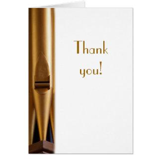 Cartões de agradecimentos da tubulação de órgão