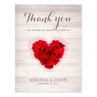 Cartões de agradecimentos dados forma coração