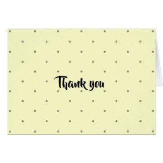 Cartões de agradecimentos das bolinhas