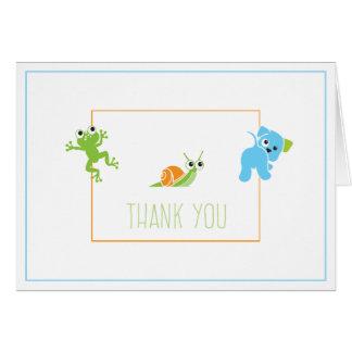 Cartões de agradecimentos das caudas dos sapos,