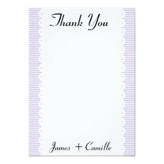 Cartões de agradecimentos das riscas da convite 12.7 x 17.78cm