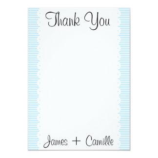 Cartões de agradecimentos das riscas dos convite 12.7 x 17.78cm