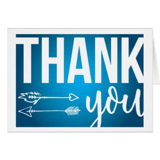 Cartões de agradecimentos das setas (azuis escuro)