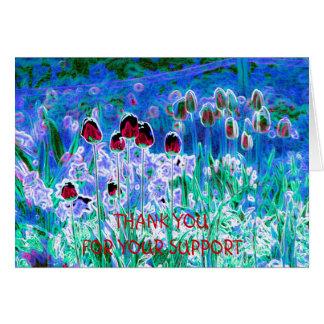Cartões de agradecimentos das tulipas