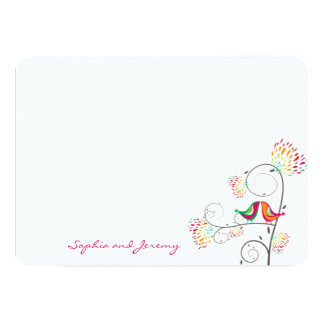 Cartões de agradecimentos de beijo lunáticos dos