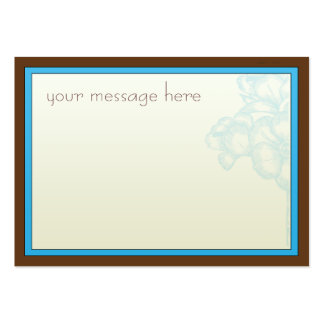 Cartões de agradecimentos de Brown do Aqua Cartão De Visita Grande