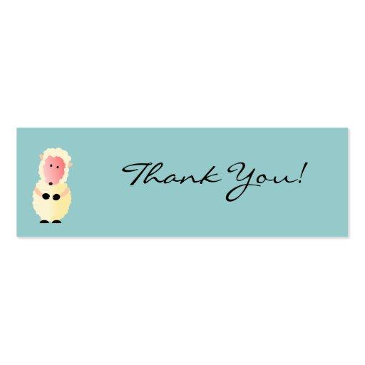Cartões de agradecimentos de Cottonball Cartão De Visita