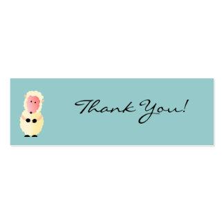 Cartões de agradecimentos de Cottonball Cartão De Visita Skinny