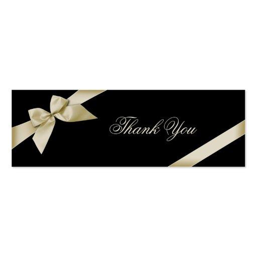 Cartões de agradecimentos de creme da fita cartão de visita