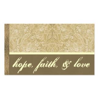 Cartões de agradecimentos de creme e de bronze cartão de visita