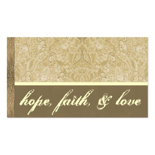 Cartões de agradecimentos de creme e de bronze cartoes de visita