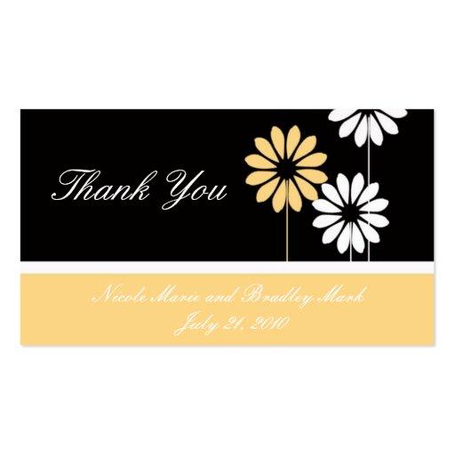 Cartões de agradecimentos de creme pretos do casam cartão de visita