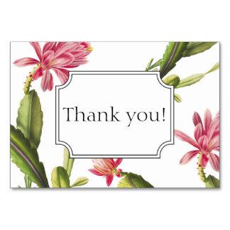 Cartão Cartões de agradecimentos de florescência do