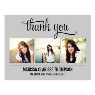 Cartões de agradecimentos de graduação da cartão postal