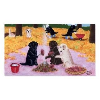 Cartões de agradecimentos de Labradors Cartoes De Visita