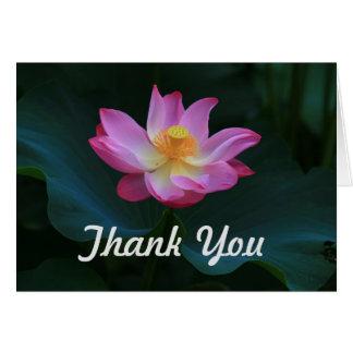 Cartões de agradecimentos de Lotus, horizontais