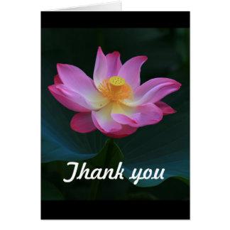 Cartões de agradecimentos de Lotus, verticais