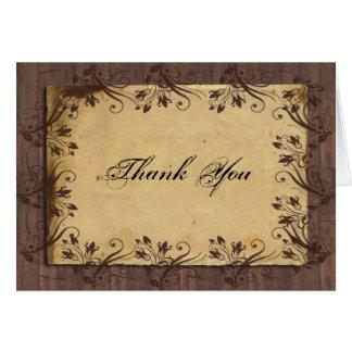 Cartões de agradecimentos de madeira da beleza do