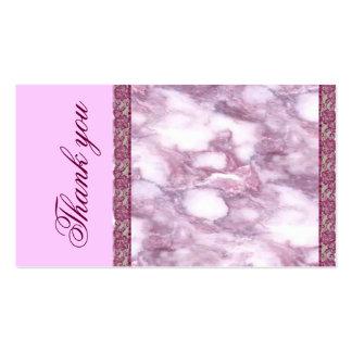 Cartões de agradecimentos de mármore roxos cartão de visita