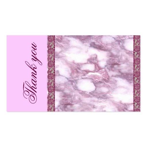 Cartões de agradecimentos de mármore roxos cartões de visita