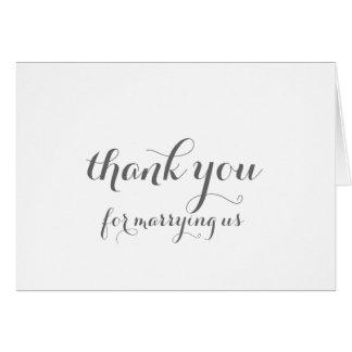 Cartões de agradecimentos de Officiant