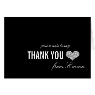 Cartões de agradecimentos de prata do doce 16 da