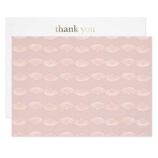 Cartões de agradecimentos de quartzo cor-de-rosa